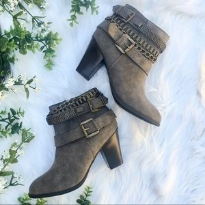 JUSTFAB Braelyn Ankle Booties Size 7